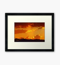 The Day Burning Away Framed Print