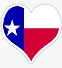 Heart Flag Texas Sticker