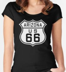 Arizona Route 66 Women's Fitted Scoop T-Shirt
