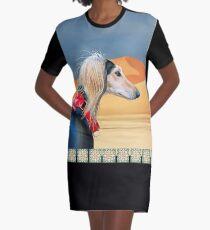 Saluki Huntress Graphic T-Shirt Dress