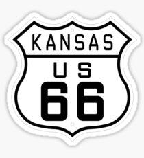 Kansas Route 66 Sticker