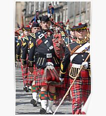 The Royal Scots Dragoon Guards - Pipers Poster