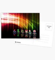 Super Mario Kart pixel art Postcards