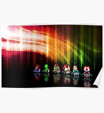 Super Mario Kart pixel art Poster
