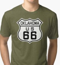 Oklahoma Route 66 Tri-blend T-Shirt