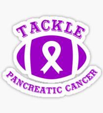 Tackle Pancreatic Cancer Awareness Football Ribbon  Sticker