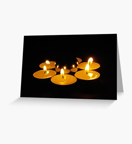 candlelit sphere Greeting Card