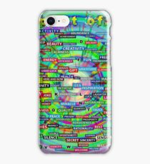 Positive Dictionary - English : Color 2 iPhone Case/Skin