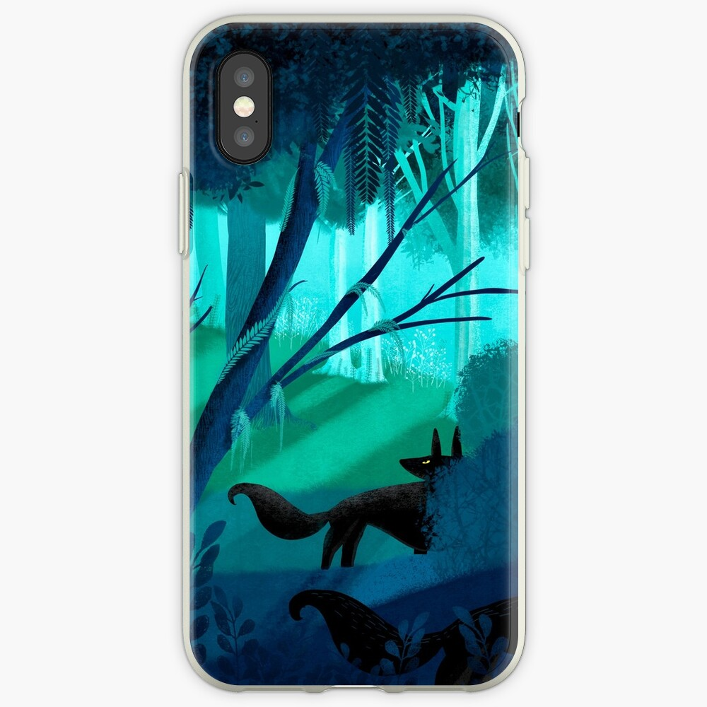 Shadow Wolves Stalk The Silver Wood iPhone Case & Cover