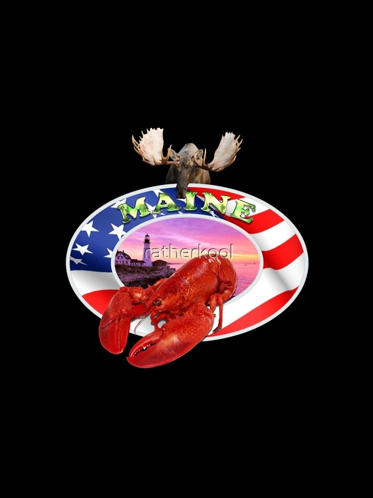Maine Lobster Logo by ratherkool