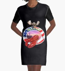 Maine Lobster Logo Graphic T-Shirt Dress
