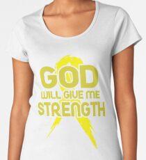 God Will Give Me Strength! Yellow Ribbon Awareness  Women's Premium T-Shirt