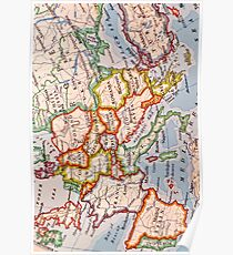 Vintage Europe Map Posters Redbubble