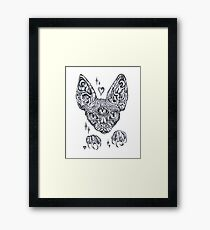 Magic Sphinx Cat Gothic Ink Drawing  Framed Print