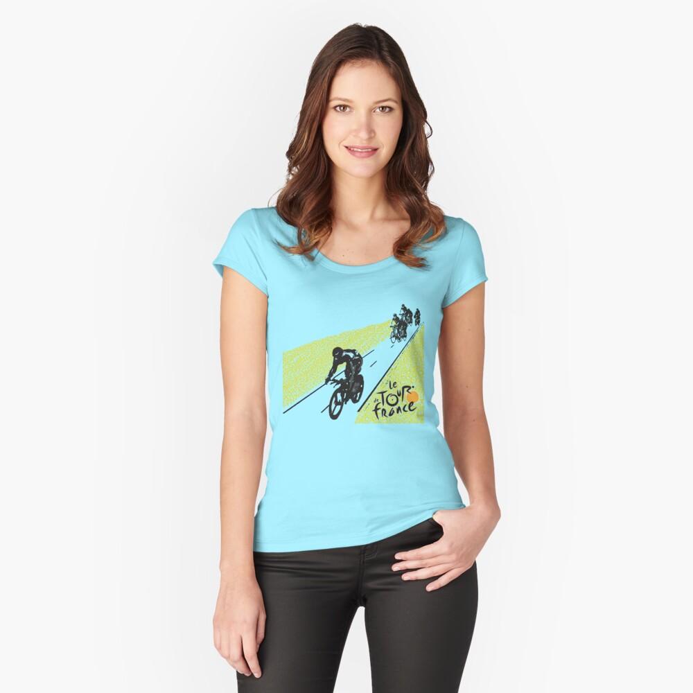Tour de France Women's Fitted Scoop T-Shirt Front