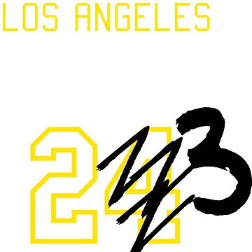 Forget #24...  We have #23!  T-Shirt Design (Yellow) by PopCultureClub