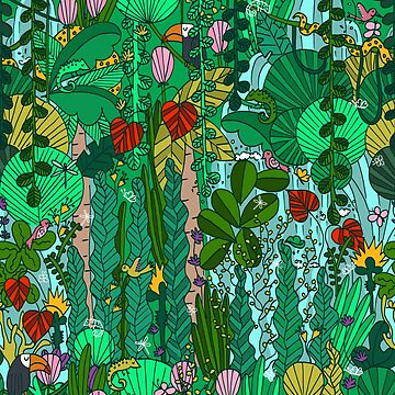 Pattern 91 - Tropical Emerald Forest by IreneSilvino