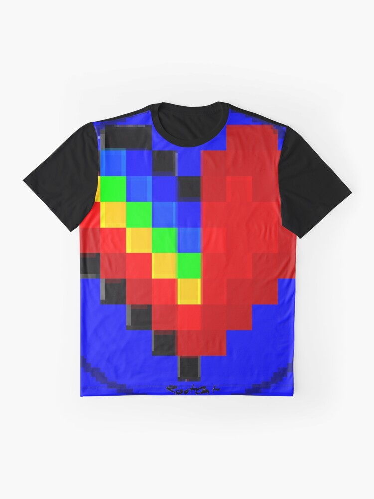 Alternate view of Emoji Heart 1 by RootCat Graphic T-Shirt