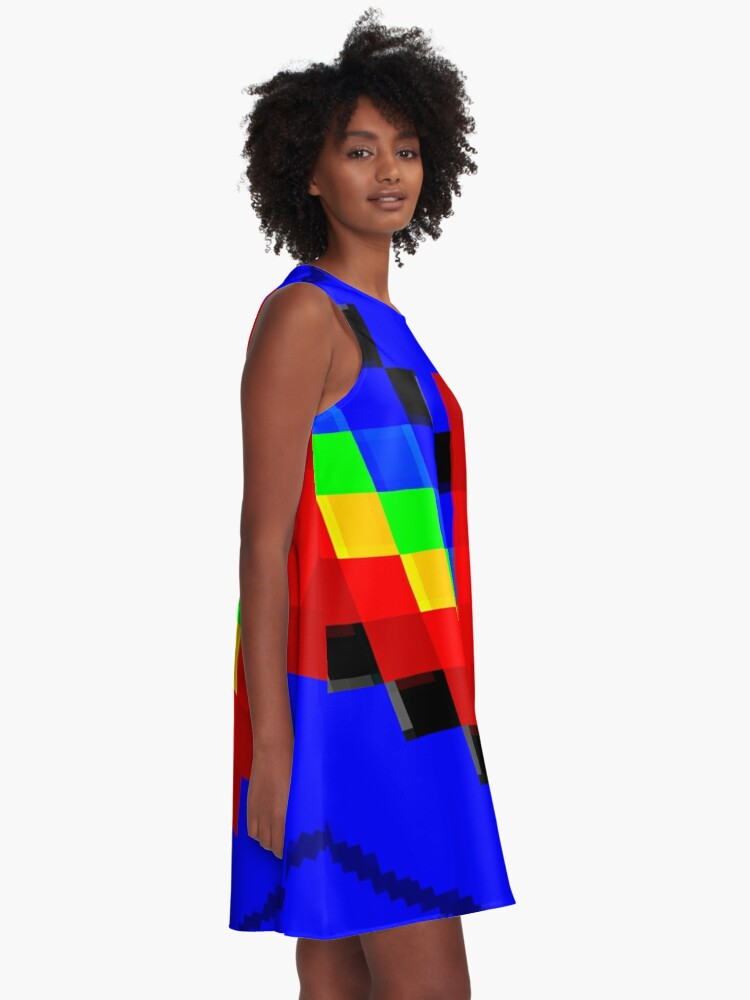 Alternate view of Emoji Heart 1 by RootCat A-Line Dress