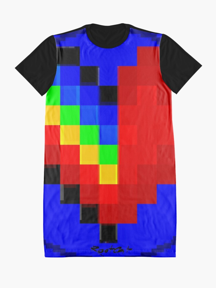 Alternate view of Emoji Heart 1 by RootCat Graphic T-Shirt Dress