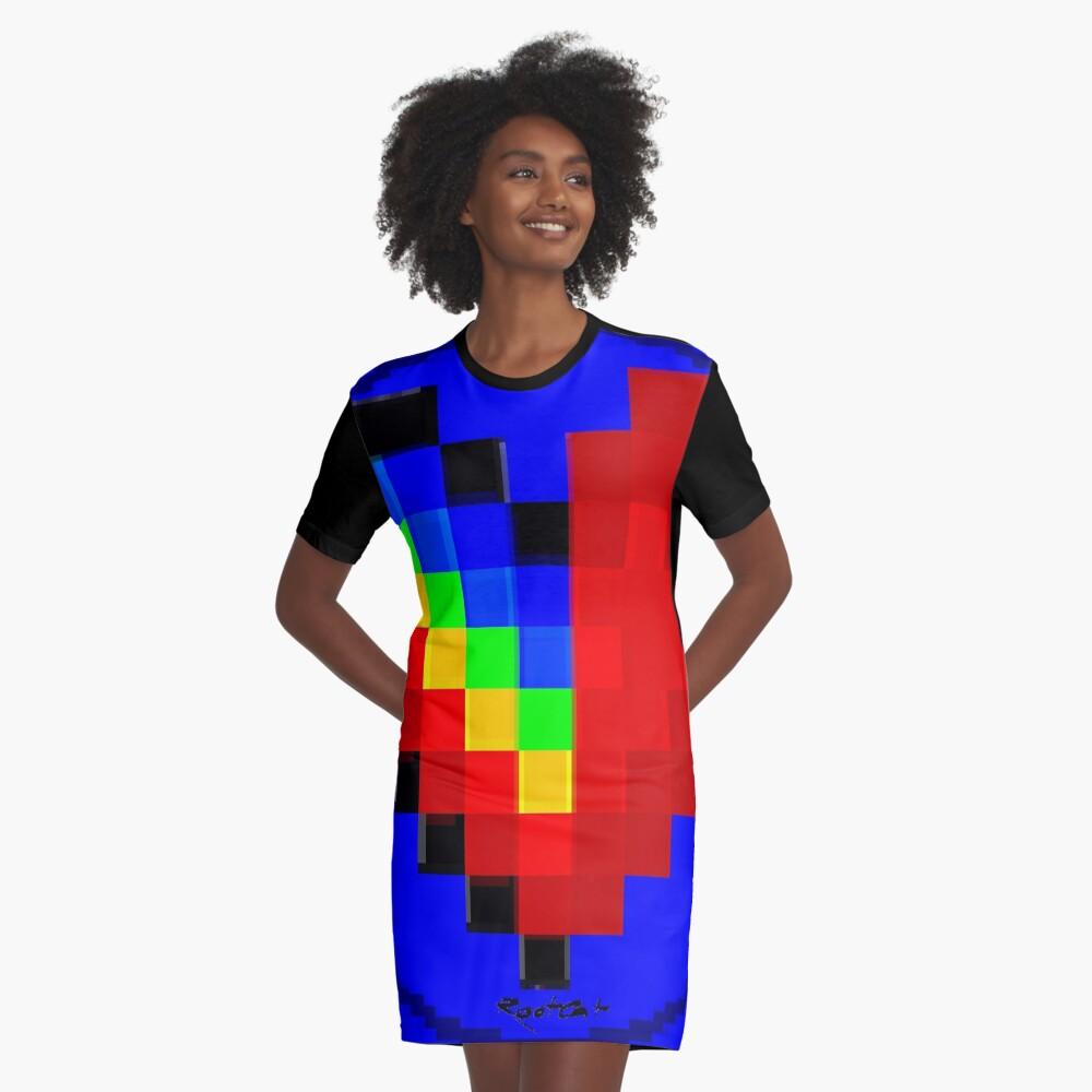 Emoji Heart 1 by RootCat Graphic T-Shirt Dress