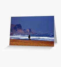 The Sea - Man on the Beach Greeting Card