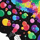 «Burbujas colorean el mundo» de artetbe