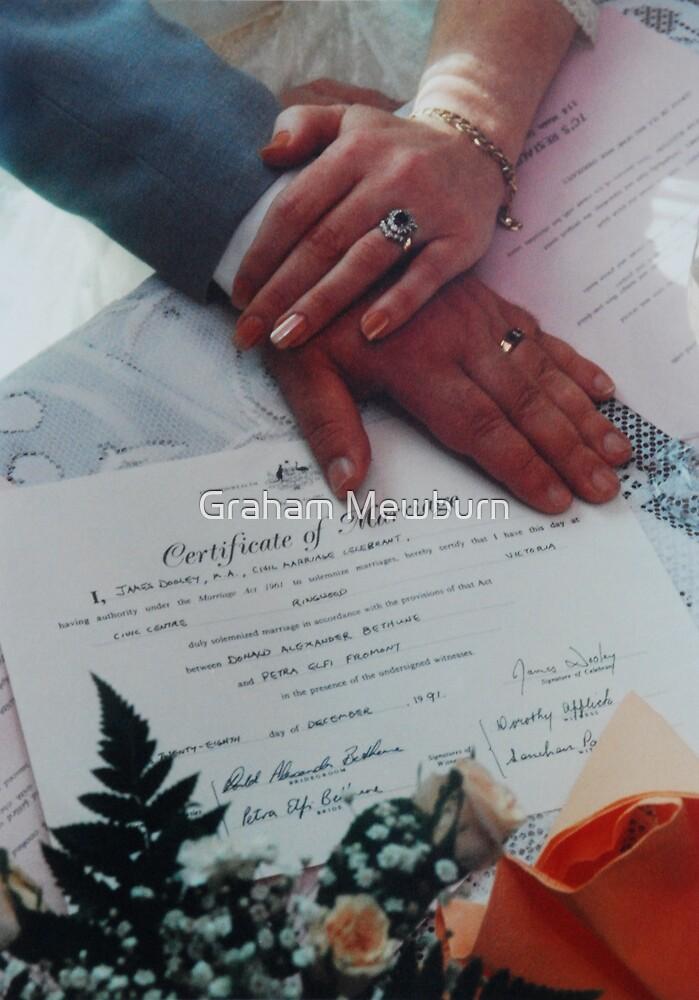 Hands, Rings & Certificate by Graham Mewburn