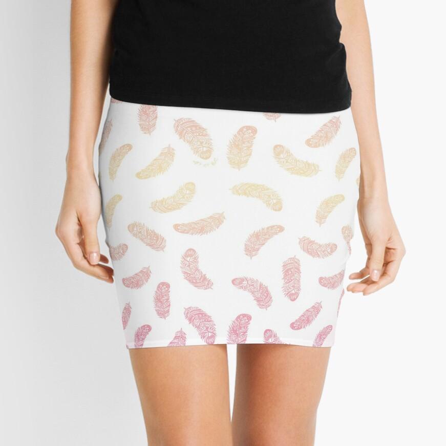 Plumas de baile Minifalda