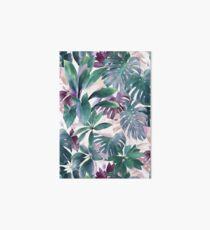 Tropical Emerald Jungle in light cool tones Art Board Print