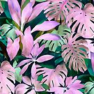 «Tropical Night Magenta y Emerald Jungle» de micklyn