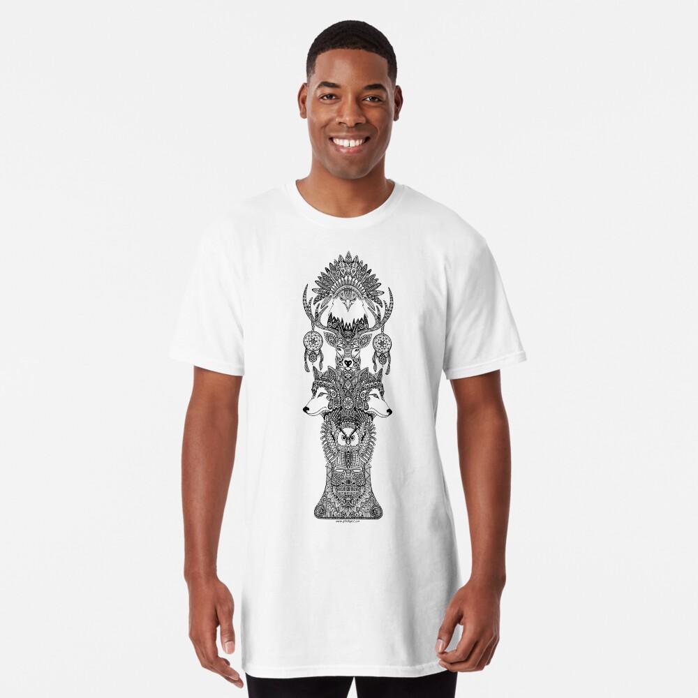 Tótem indio Camiseta larga
