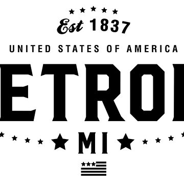 Detroit Michigan Shirt State MI by CarbonClothing