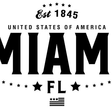 Miami Florida Shirt State FL by CarbonClothing