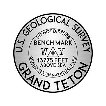Grand Teton National Park Benchmark USGS Wyoming Geocaching by MyHandmadeSigns