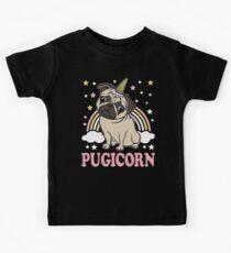 Pugicorn - lustiges Pug-Einhorn Kinder T-Shirt