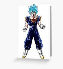 Vegeto Super Saiyan God Greeting Card