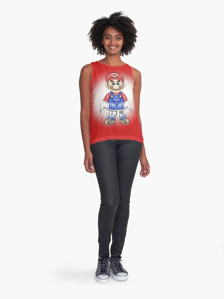 Vista alternativa de Blusa sin mangas Soy yo, Mario!