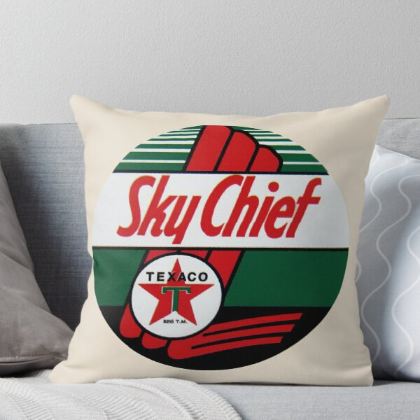 Texaco Sky Chief Throw Pillow