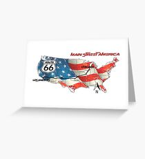 Elegant country Flat USA  route 66  Greeting Card