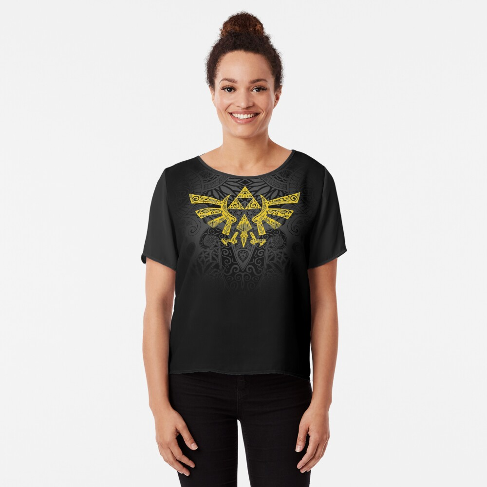 Emblema Hyrule Amarillo Blusa