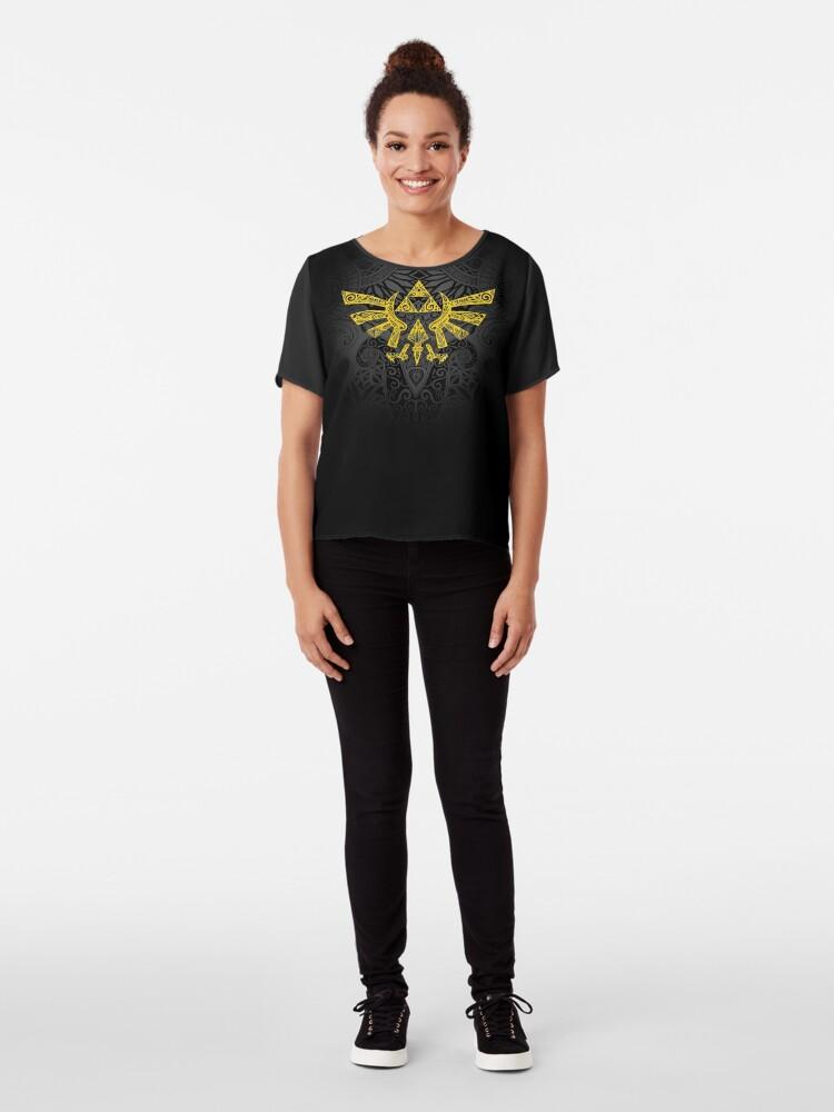 Vista alternativa de Blusa Emblema Hyrule Amarillo