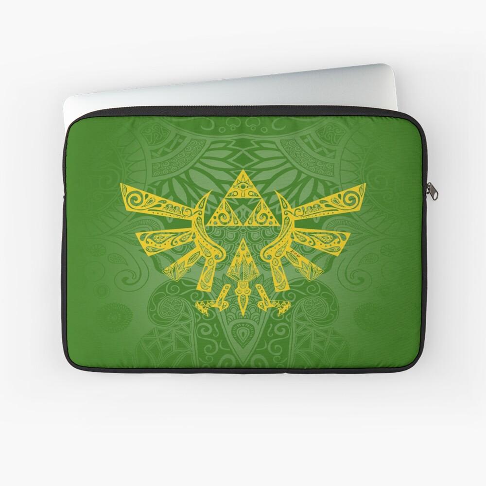Emblema Hyrule Amarillo Funda para portátil
