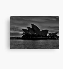 Black and White Aria - Sydney Opera House - The HDR Experience Canvas Print