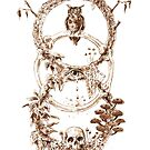Eule, Totenkopf, Epitaph von MushroomOTD