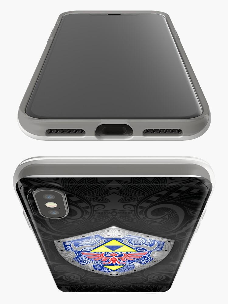 Vista alternativa de Funda y vinilo para iPhone Zelda - Link Shield Doodle