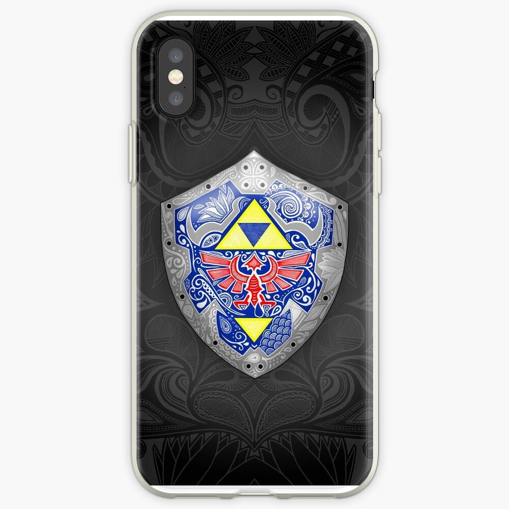 Zelda - Link Shield Doodle Funda y vinilo para iPhone