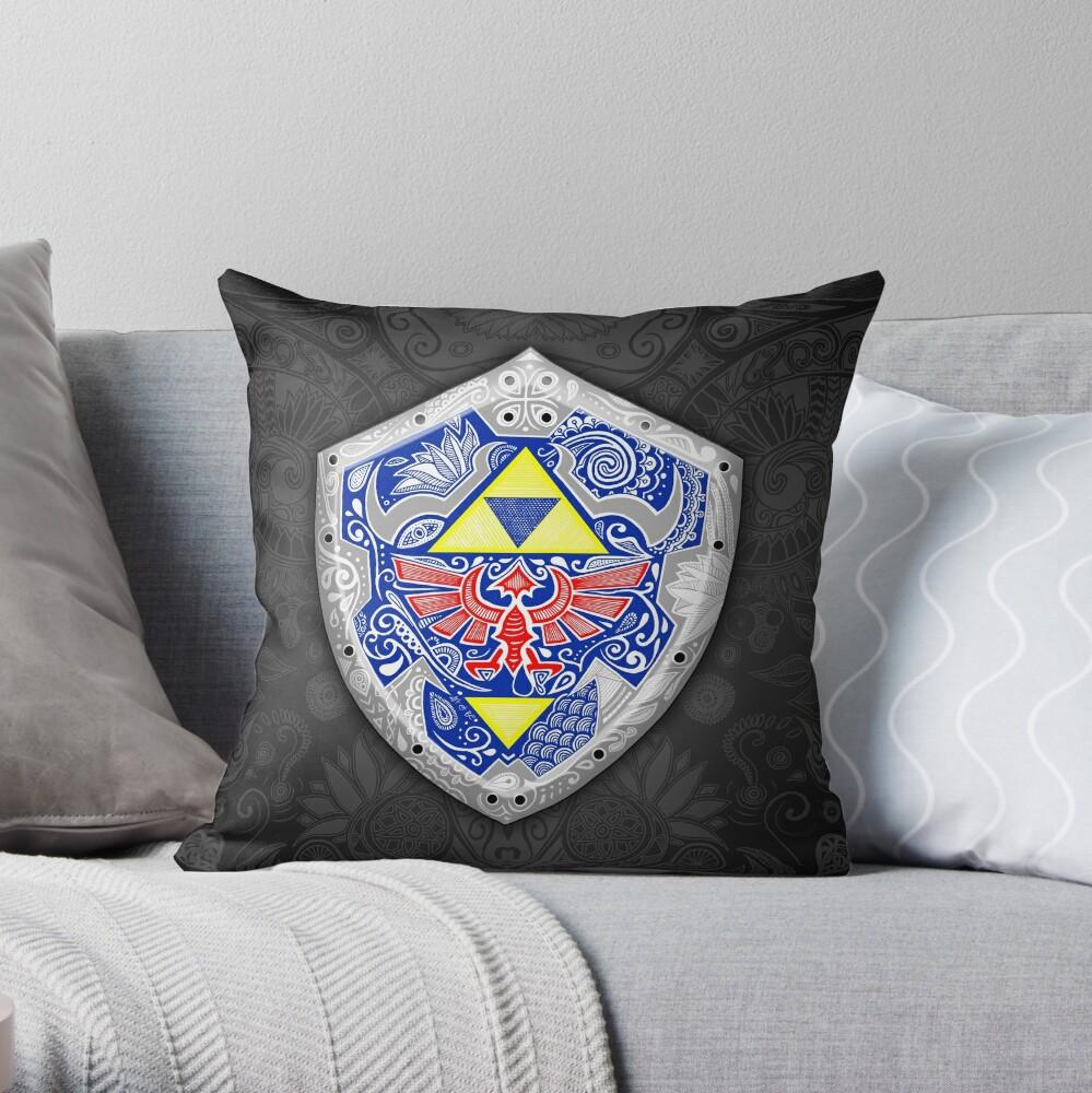 Zelda - Link Shield Doodle Cojín
