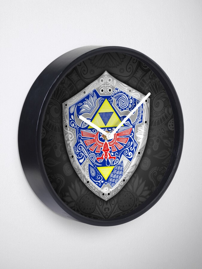 Vista alternativa de Reloj Zelda - Link Shield Doodle