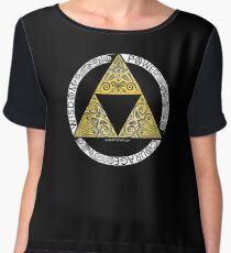 Zelda - Triforce circle Chiffon Top